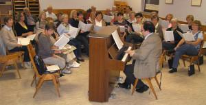 Kath. Kirchenchor St. Jakobus Hohensachsen - woechentliche Chorprobe