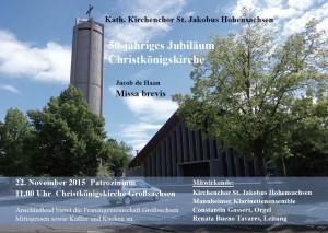 Kath. Kirchenchor - Missa brevis von Jakob de Haan