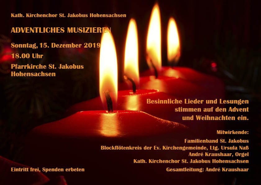 Adventliches Musizieren – Sonntag 15.12.2019 18:00 Uhr